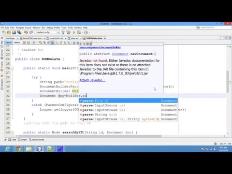 Delete data from XML file using DOM example java code - Coder VN
