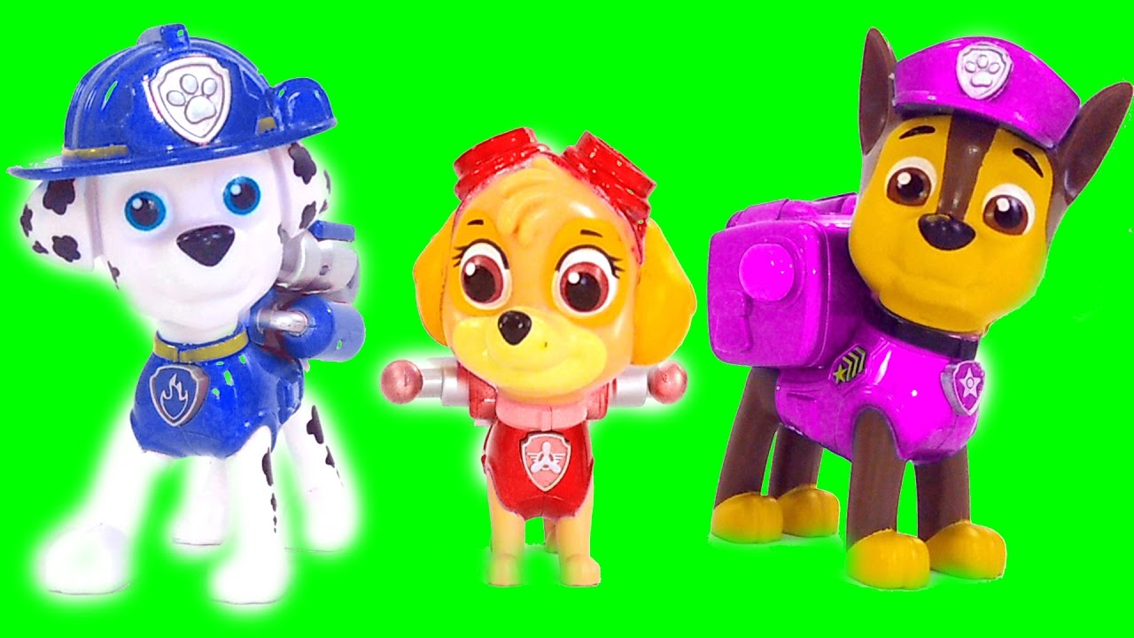New Nick Jr Paw Patrol Color Mix Up 2 Rare Toy Game Finger