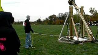 Pumpkin Trebuchet Launch 2008, Medina High School