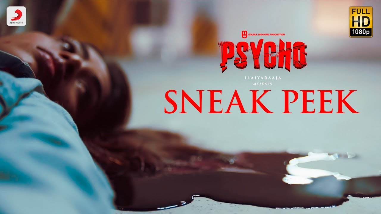 Psycho Sneak Peak Tamil Udhayanidhi Stalin Ilayaraja Mysskin Aditi Rao Hydari