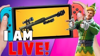 🔴 Pro Fortnite Nintendo Switch Player // New Heavy Sniper Gameplay // Pro Solo Matches + Tips!!