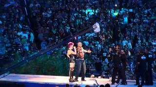 Wrestlemania 28 The Rock Entrance feat. Flo Rida (Part 1)
