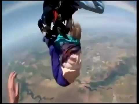 saut en parachute qui se passe mal