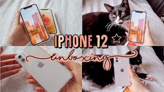 iPhone 12 unboxing (white, 128g) + accessories ☆ ft Kai the cat ☆ 😽🍎