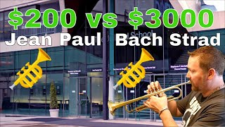 Jean Paul Silver $200 Trumpet review vs $3000 Bach Stradivarius trumpet - Juilliard School of Music
