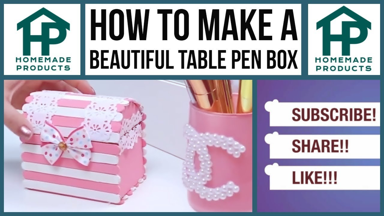 How to make a beautiful table pen box - YouTube