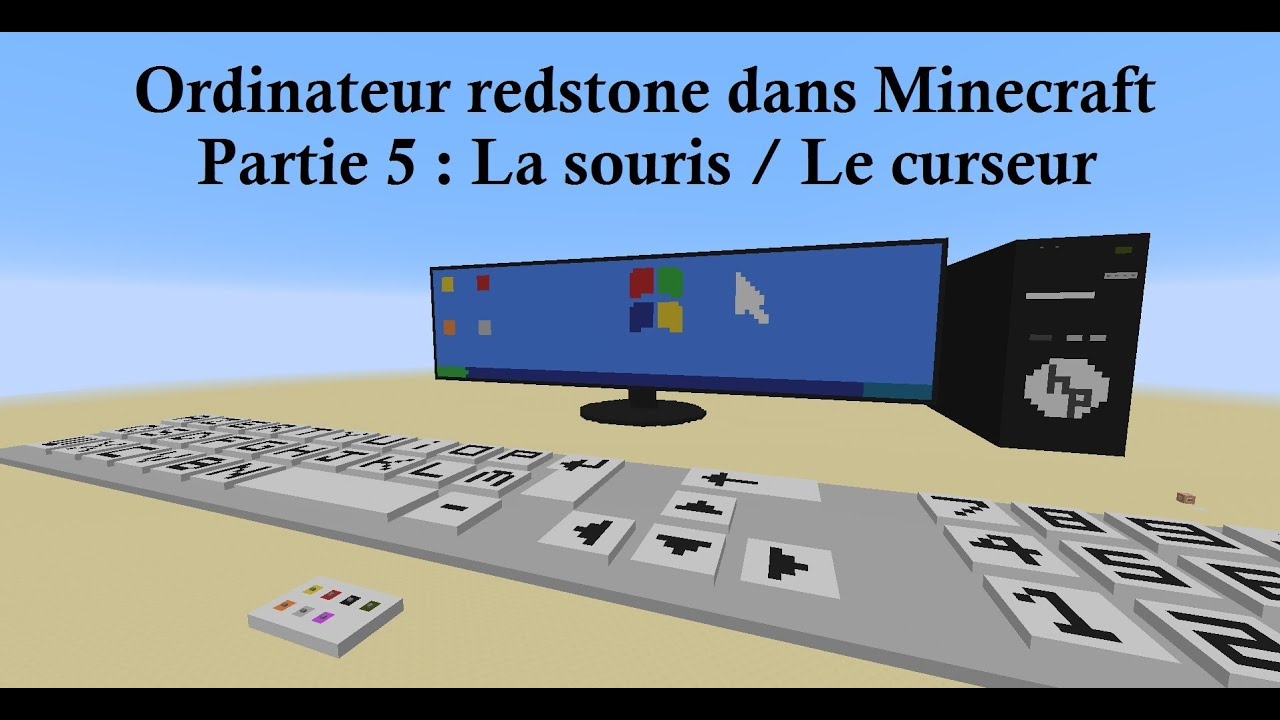 2014 fr minecraft 1 8 un ordinateur redstone fonctionnel partie 5 la souris le curseur. Black Bedroom Furniture Sets. Home Design Ideas