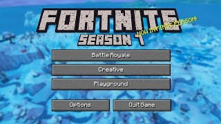 IF FORTNITE WAS MADE BY MOJANG (FIRST PERSON/MINECRAFT)