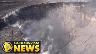 Drone Surveys Dramatic Drop At Kilauea Summit (Jun. 13, 2018)