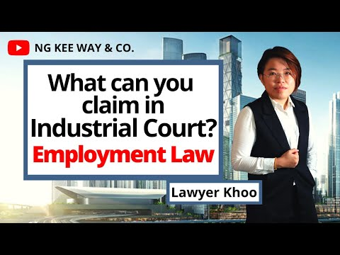 """What can you claim in Industrial Court?   Employment Law   """"Guardian of Law""""   EP 38"""