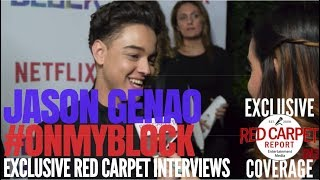 "Jason Genao interviewed at Premiere of Netflix's coming of age comedy ""On My Block"" #OnMyBlock"