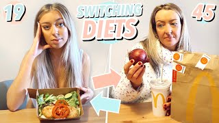 SWAPPING DIETS WITH MY MUM FOR 24 HOURS!!