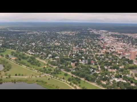 Aerial Tour of Escanaba, Michigan