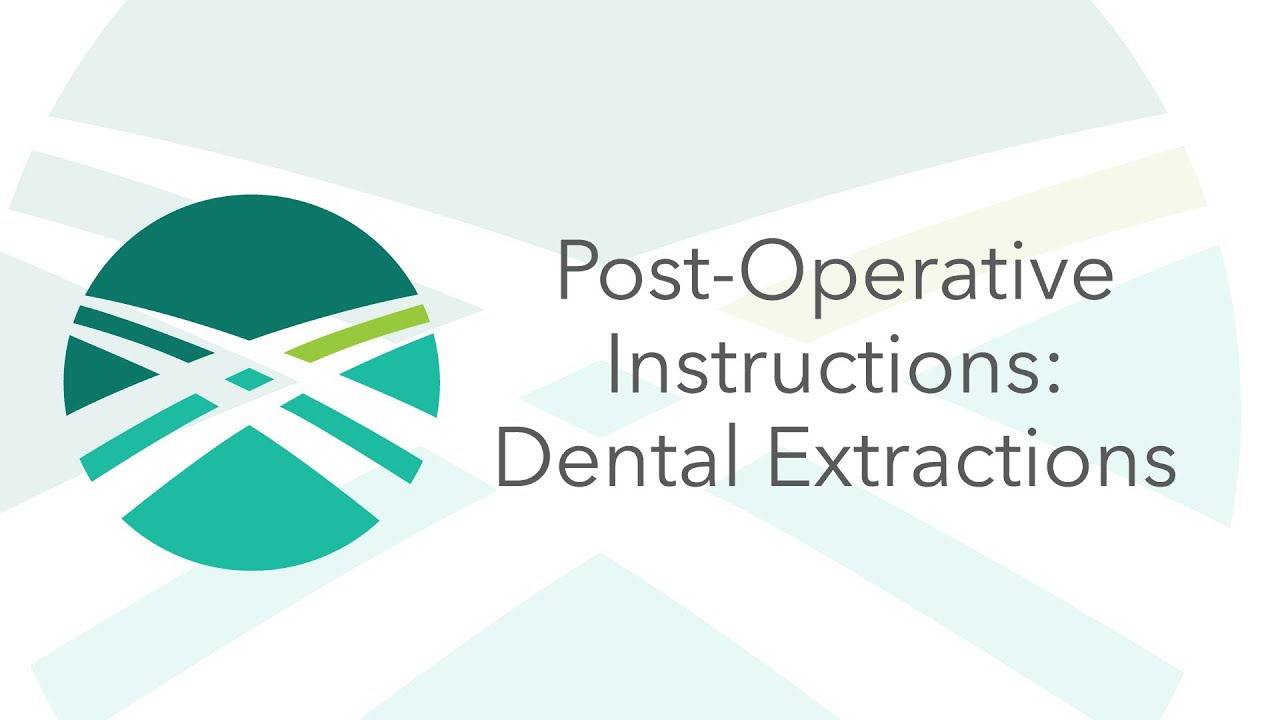 Post Op Instructions Single Tooth Extraction Indianapolis Oral