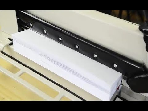 """12"""" Heavy Duty Manual Guillotine Paper Cutter Trimmer cuts up to 400 sheets of paper at one time"""
