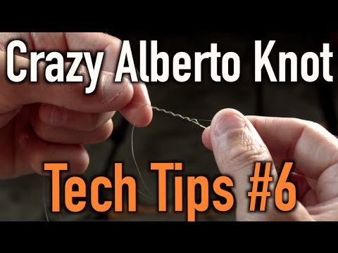How To Tie Braided Line To Flurocarbon Or Monofilament Crazy Alberto Knot Youtube