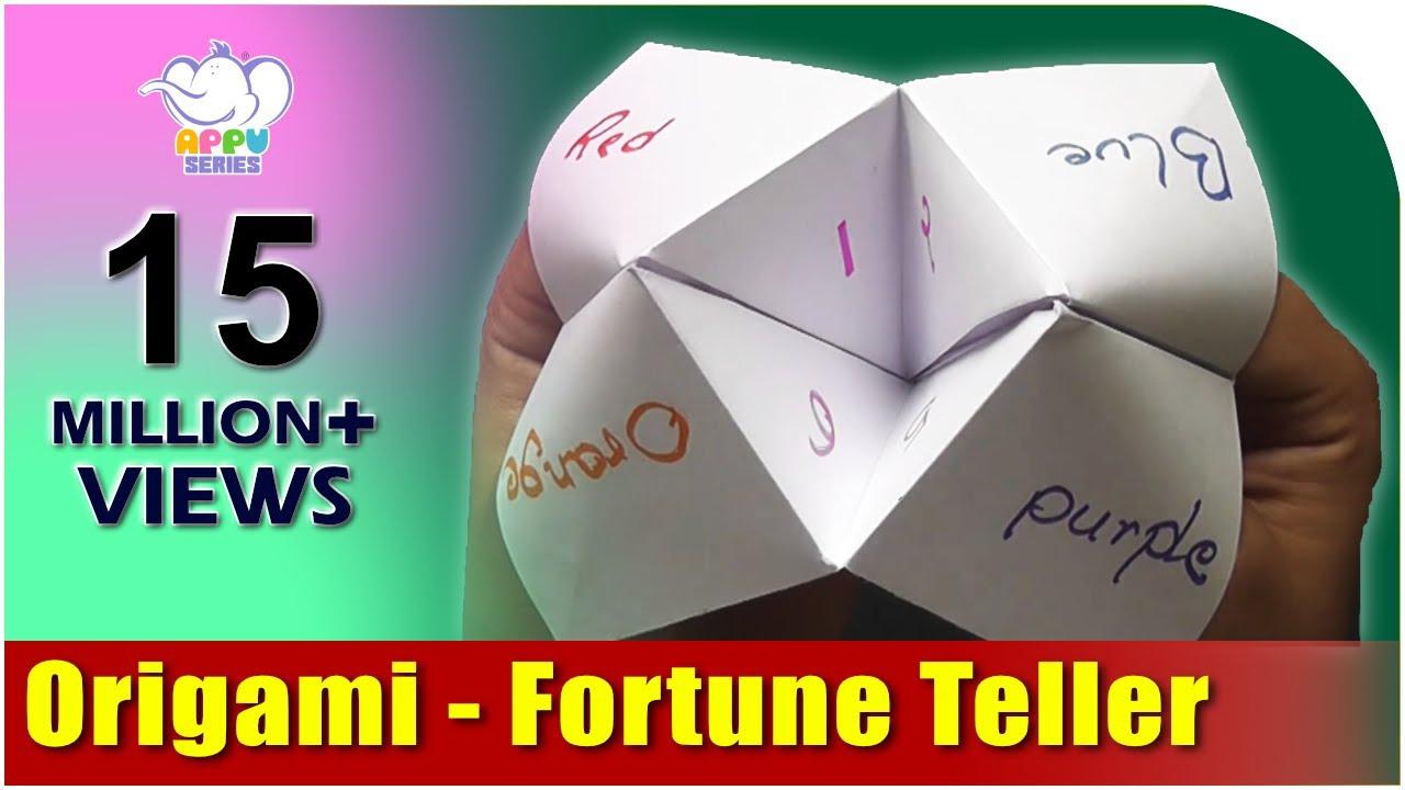 origami fortune teller youtube. Black Bedroom Furniture Sets. Home Design Ideas