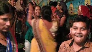 शुक्ला परिवार के सदस्यों द्वारा रात्रि संगीत नृत्य । श्रीमद् भागवत कथा पोथीराम का पुरा