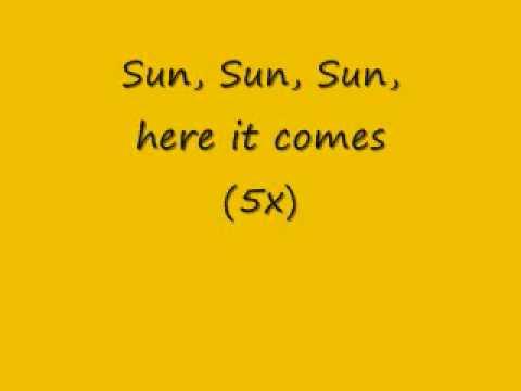 Lyrics for here comes the sun