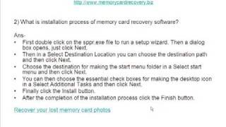 How to recover lost data from Memory Card