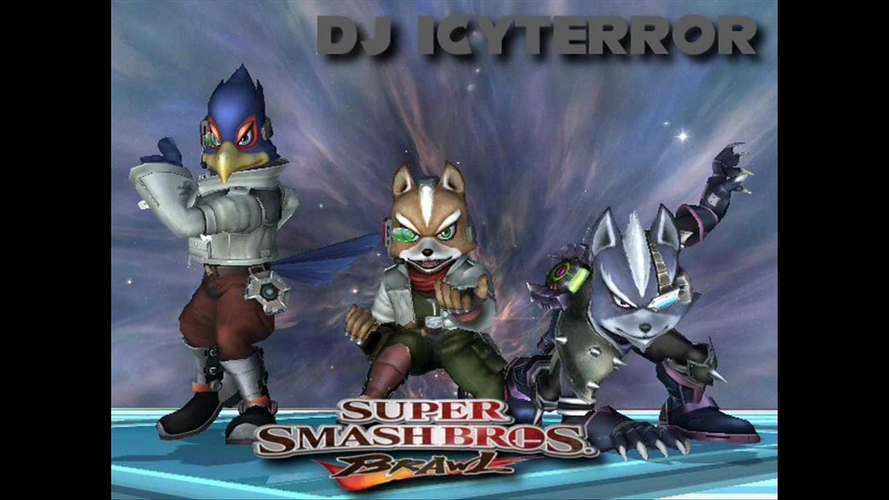 super smash bros brawl fox falco and wolf victory rap