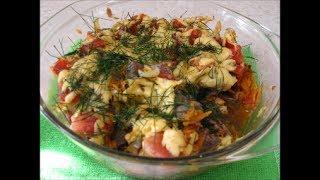 Запеканка или горячий салат из куриной печени