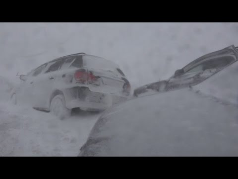 Massive car crash pile-up in Slovakia amid snowstorm