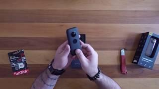 insta 360 One X Camera box contents