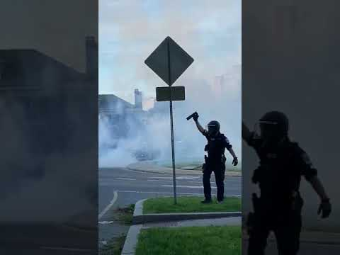 Tear Gas Deployed On Peaceful Protesters In Richmond, Virginia