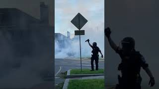 Tear Gas Deployed On Protesters In Richmond, Virginia