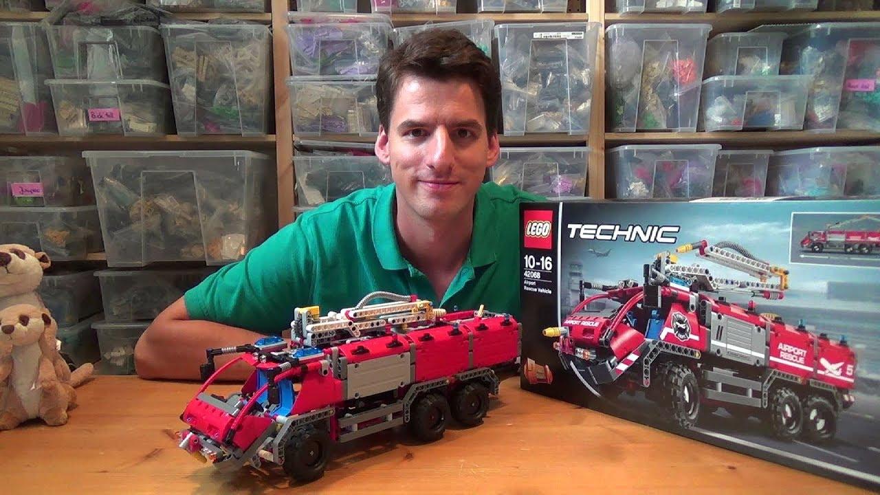 Lego Technic 42068 Flughafen Löschfahrzeug Youtube