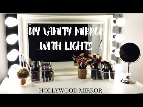 DIY HOLLYWOOD VANITY MIRROR WITH LIGHTS | CHELSEA MARI