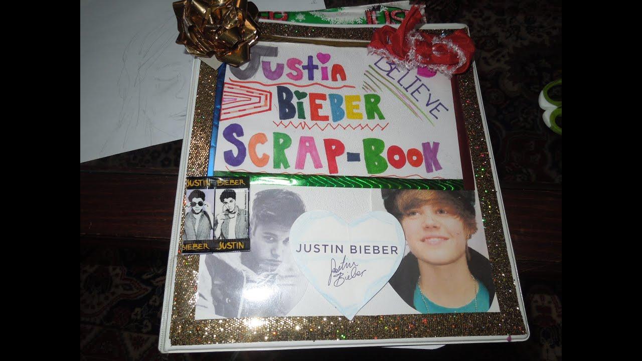 Justin bieber scrap book