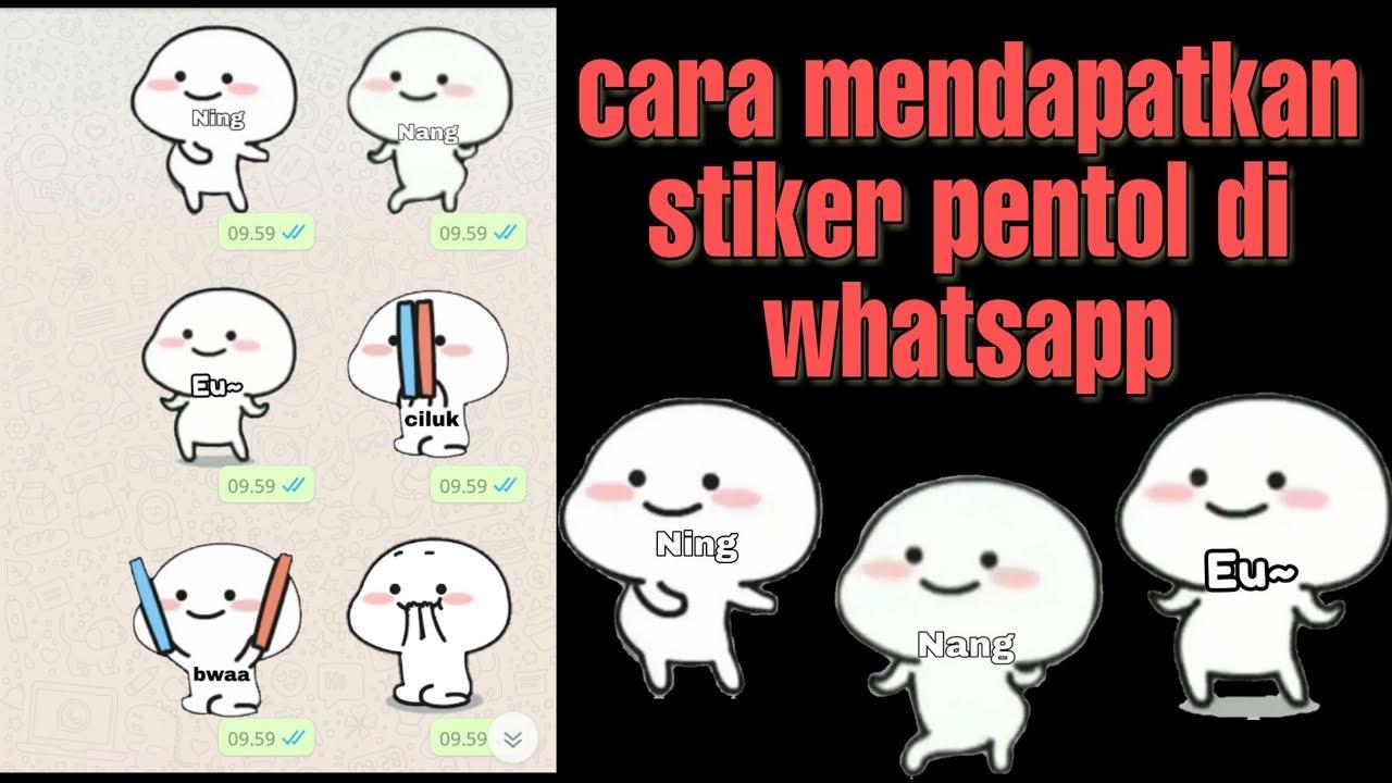 Cara Mudah Mendapatkan Stiker Ning Nang Euy Stiker Pentol Di Whatsapp Caranyadinda