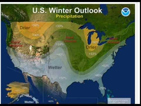 "Winter Forecast NOAA ""Naturally Strong"" Hot Rain to Hit California & South USA"