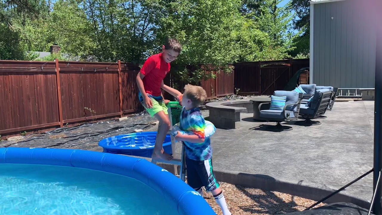 😎PUSHED IN THE POOL 💦 - YouTube