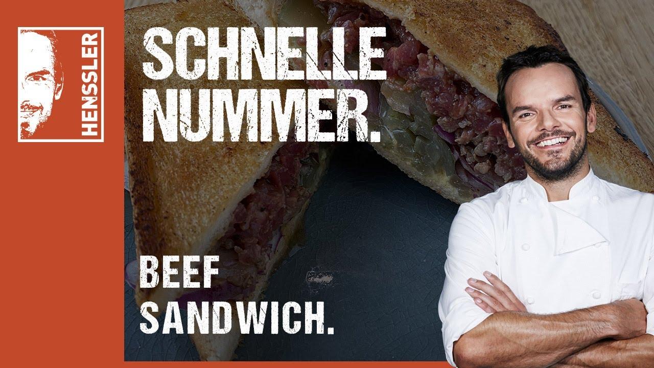 Schnelles Beef Sandwich von Steffen Henssler