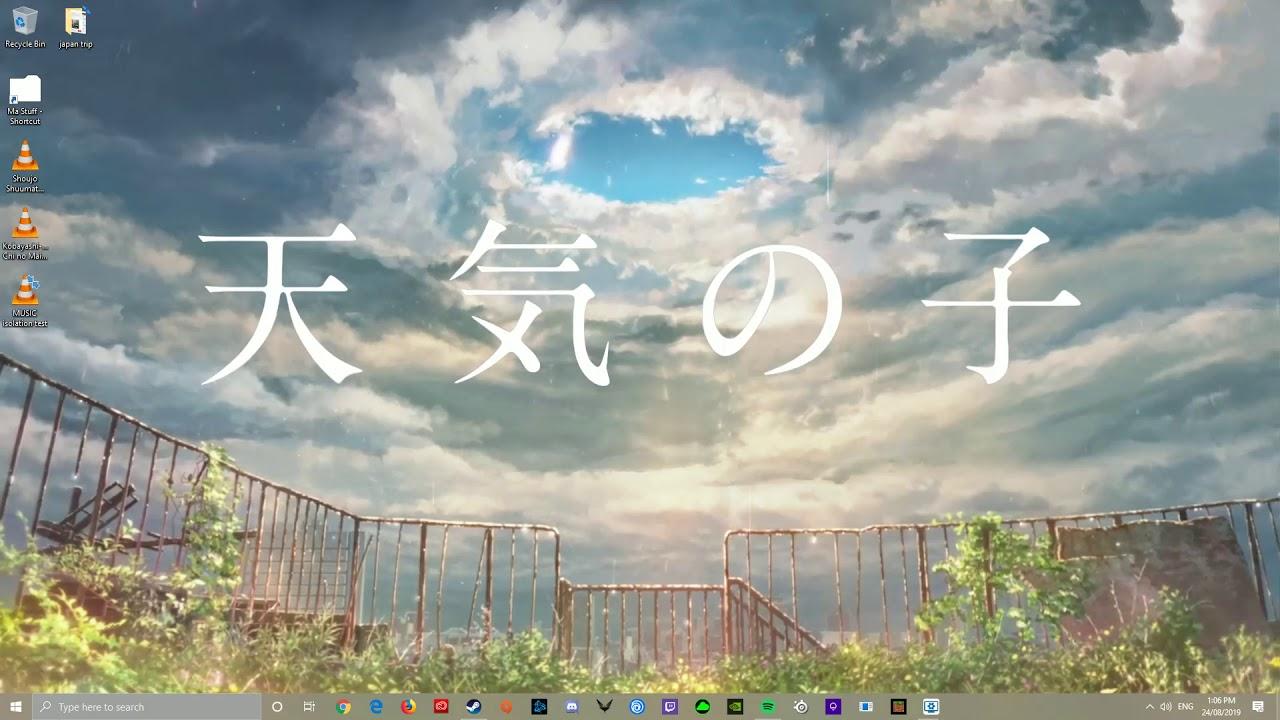Tenki No Ko Weathering With You Garden Rooftop Wallpaper Engine Youtube