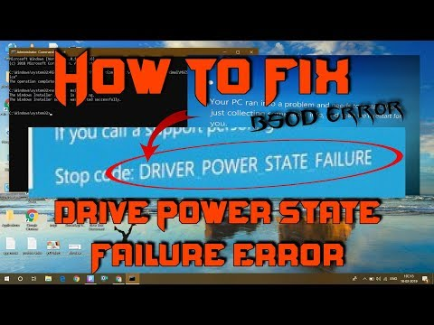 stop code windows 10 driver power state failure