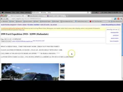 Craigslist Dade County Florida Used Cars - For Sale by Owner Deals Under $2000 in Miami