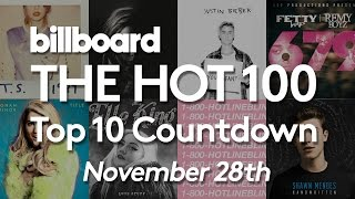Official Billboard Hot 100 Top 10 November 28 2015 Countdown