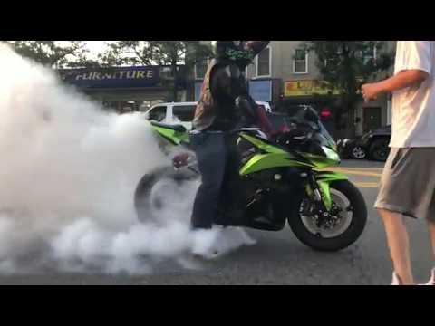 Honda CBR600RR Burnout. iPhone X Video Test.