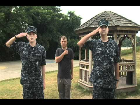 Saluting in civilian clothes