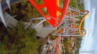 Silver Bullet Roller Coaster - Front Row POV - Knott