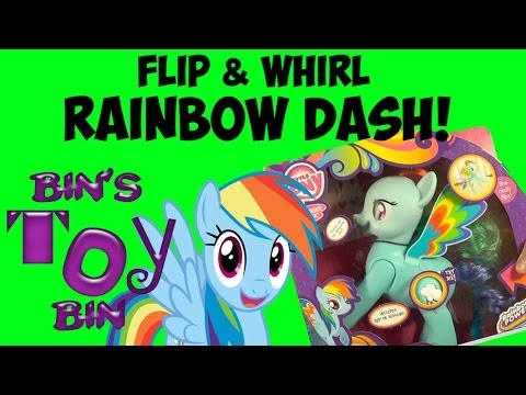 My Little Pony Flip & Whirl RAINBOW DASH Talking Toy Review! New For 2014! By Bin's Toy Bin
