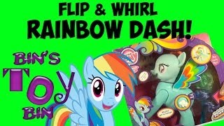 My Little Pony Flip & Whirl RAINBOW DASH Talking Toy Review! New for 2014! by Bin