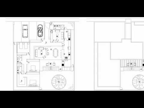 Dise o de casa en una planta con 3 recamaras 20x23 m youtube - Disenos de casas de una planta ...