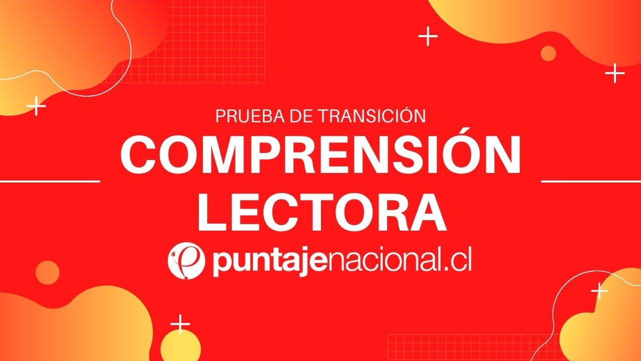 Prueba de Transición COMPRENSIÓN LECTORA   Tópicos literarios   Clase N° 16