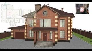 Проект красивого дома в два этажа «Подольск»  F-413-ТП