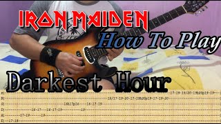 IRON MAIDEN - Darkest Hour - GUITAR LESSON WITH TABS